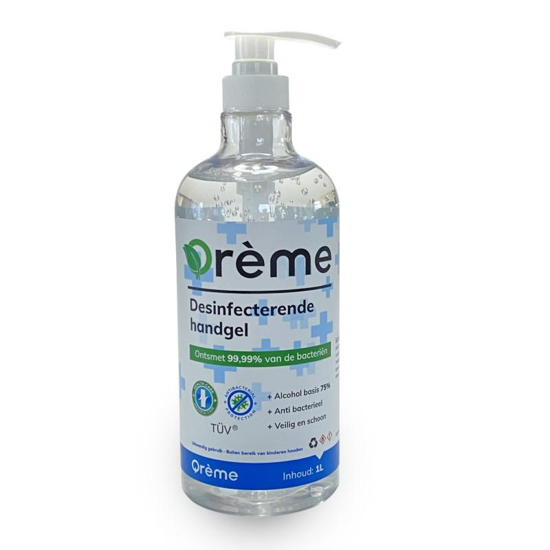 Qréme desinfecterende handgel 1 liter met pompje