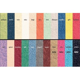 Beschikbare kleuren badstoffen hoeslaken