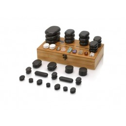 Hotstone massagestenen set 60 stenen