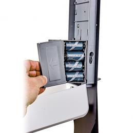 Contactloze dispenser voor vloeibare desinfectie op batterijen