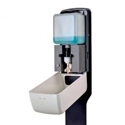Contactloze dispenser voor vloeibare desinfectie binnenkant