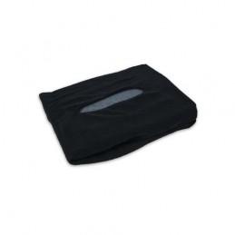 Badstoffen hoeslaken massagetafel met uitsparing - Zwart