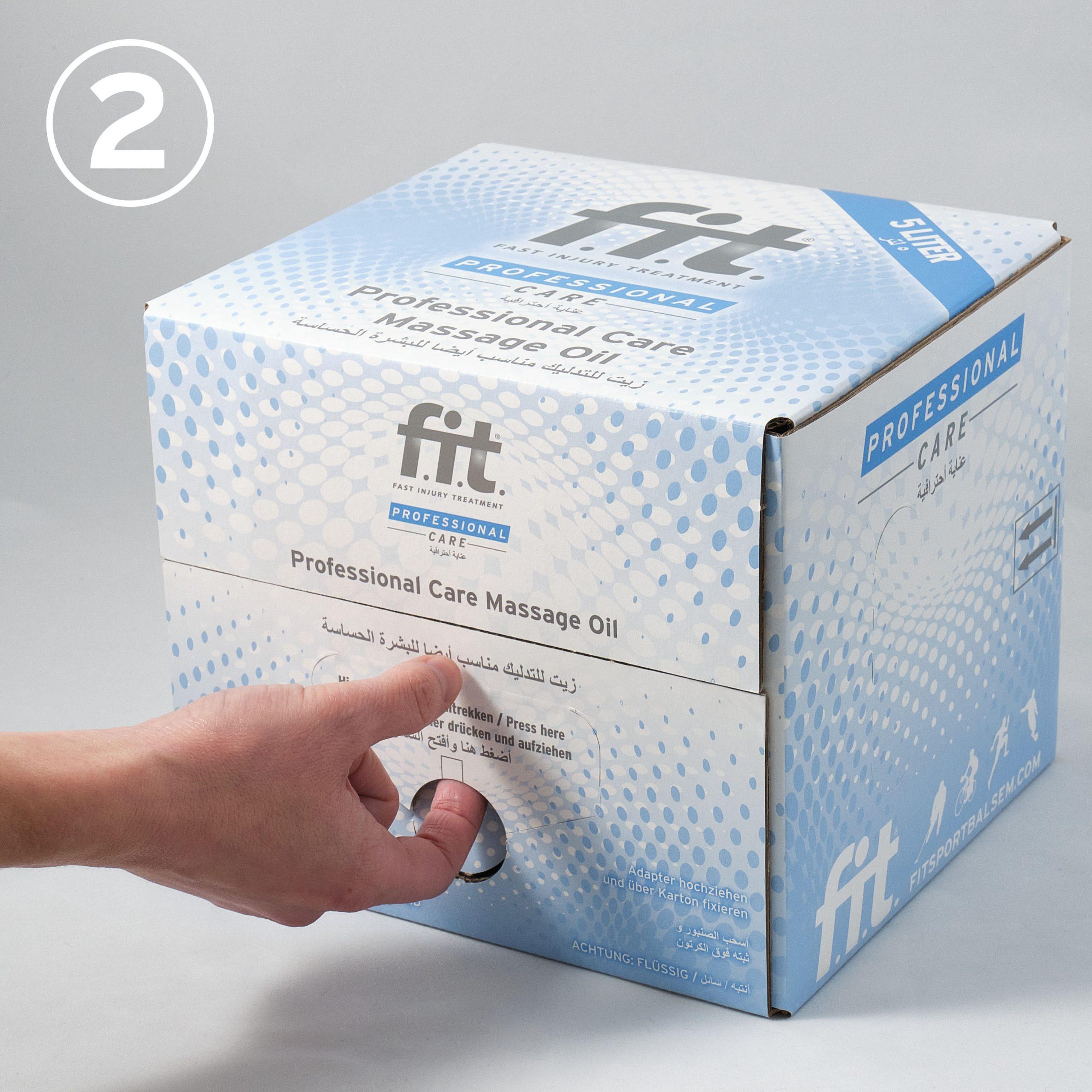 FIT Massageolie 5 liter gebruiksaanwijzing 2